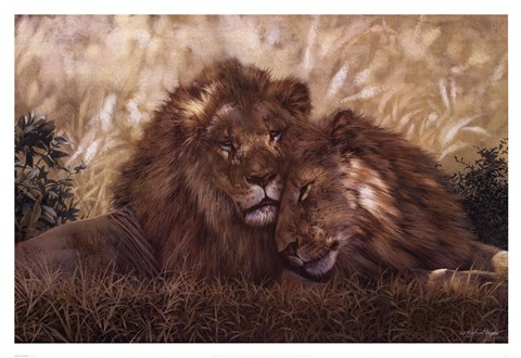 Framed Brothers of the Serengeti Print
