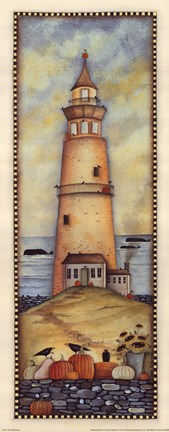 Framed Fall Lighthouse Print