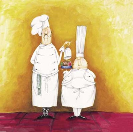 Framed Chef Duo Print