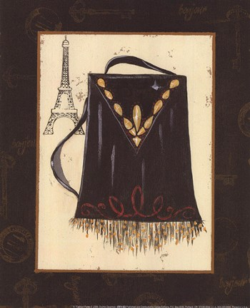 Framed Fashion Purse II Print
