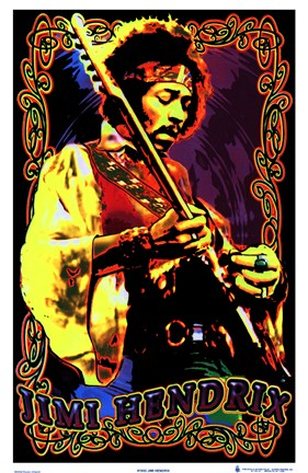 Framed Black Light - Jimi Hendrix - Headband Print