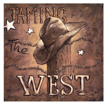 Framed Taming the West Print