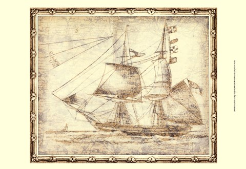 Framed Small Ghost Ship II (P) Print