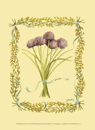 Framed Small Chives Print