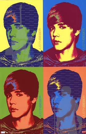 Framed Justin Bieber - Colors (Glow In The Dark) Print