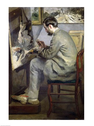 Frederic Bazille At His Easel 1867 Painting By Pierre Auguste Renoir At Framedart Com