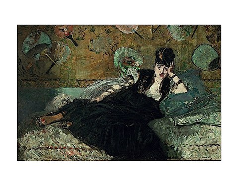 Framed La Dame aux Eventails - Nina de Callias, 1873-74 Print