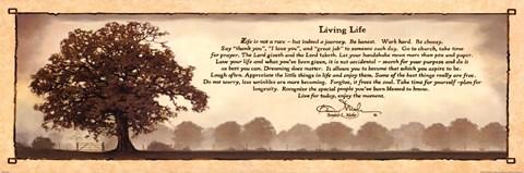 Framed Living Life Horizontal Print