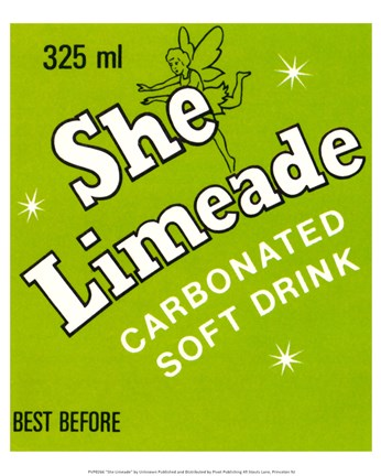 Framed She Limeade Print