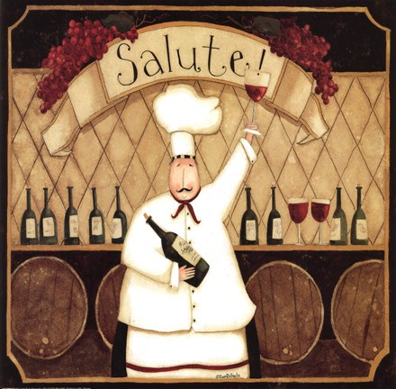 Framed Salute Chef Print