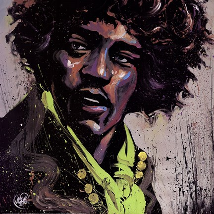 Framed Hues of Hendrix Print