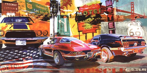 Muscle Cars Artwork By Ray Foster At Framedart Com