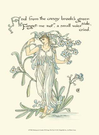 Framed Shakespeare's Garden VII (Forget me not) Print