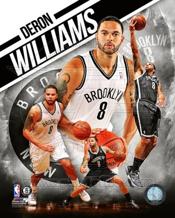 Framed Deron Williams 2012 Portrait Plus Print