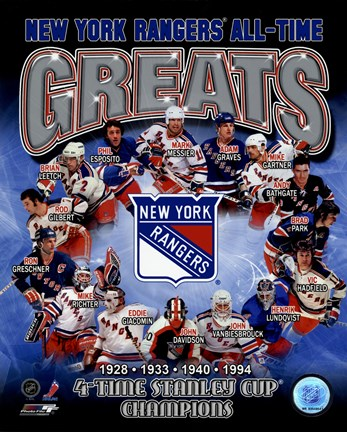 Framed New York Rangers All-Time Greats Composite Print