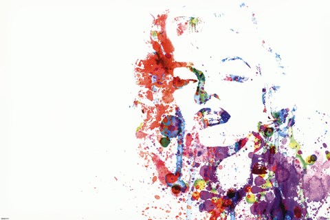 Framed Marilyn Monroe - Paint Splatte Print