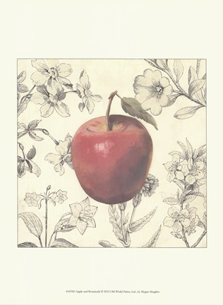 Framed Apple and Botanicals Print