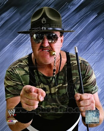 Framed Sgt. Slaughter Posed Print