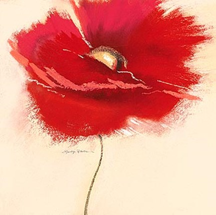 Framed Red Poppy Power III Print