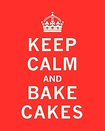 Framed Keep Calm, Bake Cakes Print