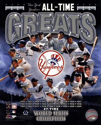Framed New York Yankees All Time Greats Composite Print