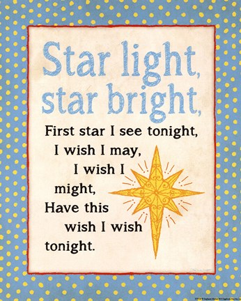 Framed Star Light Print