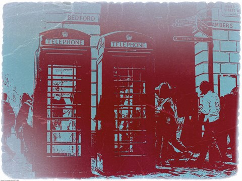Framed London Telephone Booth Print