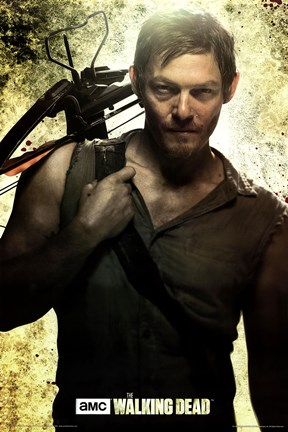 Framed Walking Dead - Daryl Print
