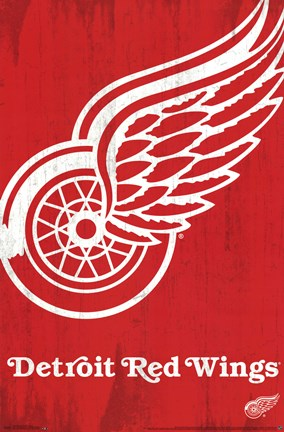 Framed Detroit Red Wings® - Logo 13 Print
