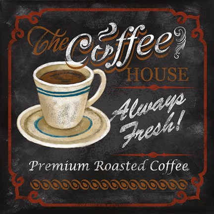 Framed Coffee House Print