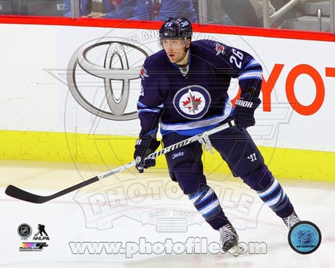Framed Blake Wheeler 2013-14 Action Print