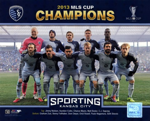 Framed Sporting KC  Starting 11 2013 MLS Cup Print