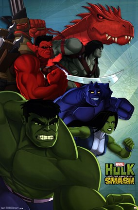 Framed Hulk - Agents of Smash Print