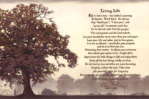 Ordinaire Framed Living Life Sepia Tree Print