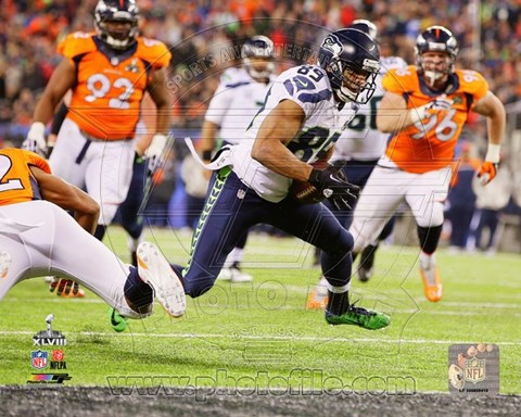 Framed Doug Baldwin Touchdown Super Bowl XLVIII Action Print