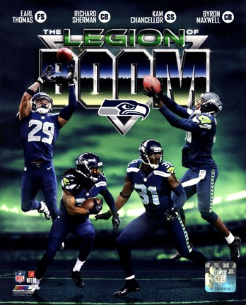 Framed Seattle Seahawks The Legion of Boom Composite Print