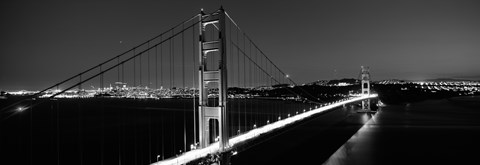 Golden Gate Bridge At Dusk San Francisco Black Amp White