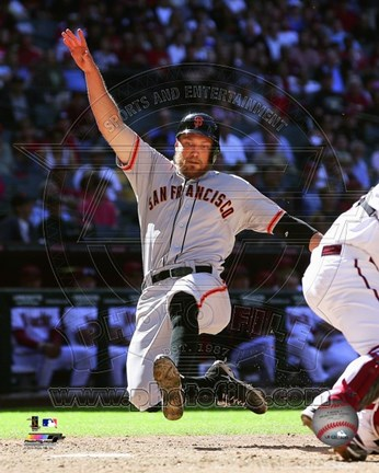 Framed Hunter Pence in action 2014 Print