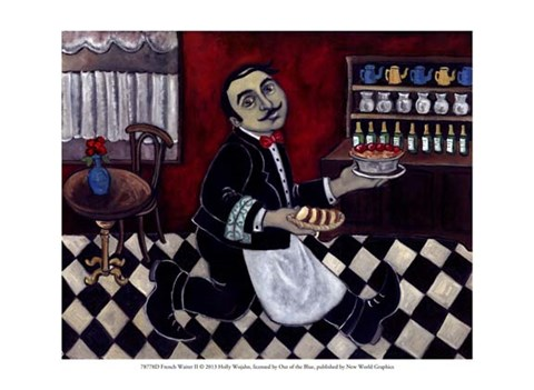 Framed French Waiter II Print
