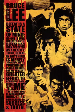 Framed Bruce Lee - Montage Print