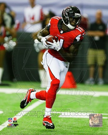 Framed Julio Jones 2014 Action Print