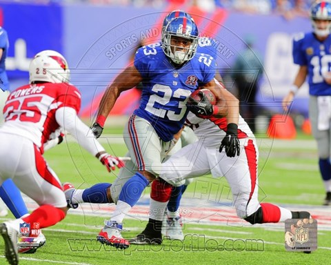 Framed Rashad Jennings with the ball 2014 Print