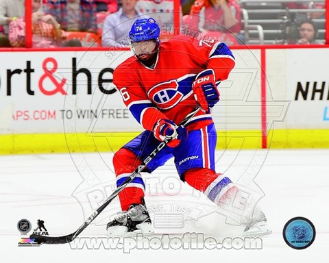 Framed P.K. Subban 2014-15 hockey Print