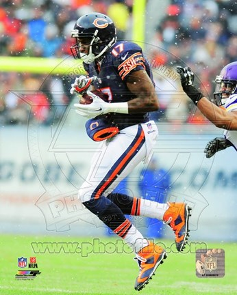 Framed Alshon Jeffery 2014 Action Print
