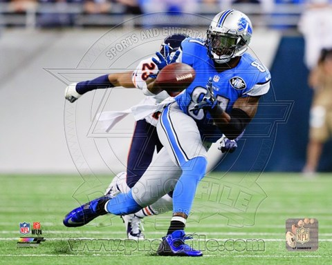Framed Calvin Johnson 2014 Football Print
