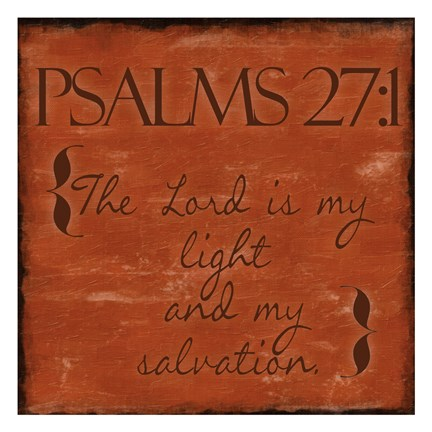 Framed Psalms 27-1 Print
