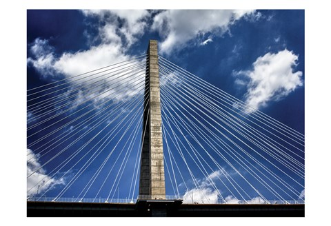 Framed Arthur Ravenel Bridge 1 Print