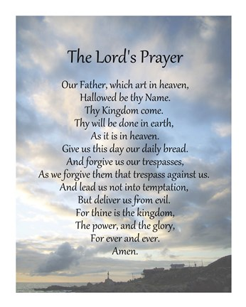 Vibrant image for printable copy of the lord's prayer