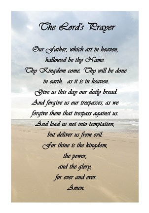 graphic about Printable Lords Prayer identified as The Lords Prayer - Beach front as a result of Veruca Salt