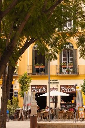 Outdoor Cafes Plaza De La Merced Malaga Spain By Walter Bibikow Danita Delimont